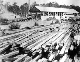 Photo---Ellaville---Log-Boom---1875