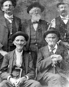 Photo---Live-Oak---Businessmen-[D.-W.-Tedder-(F),-George-White-(F),-White-(R),-E.-P.-Groover-(R),-and-Nick-Baisden(R)]---1900s