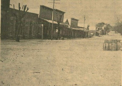 Photo---Live-Oak---Howard-Street-Looking-West-with-Snow---1899---February-13