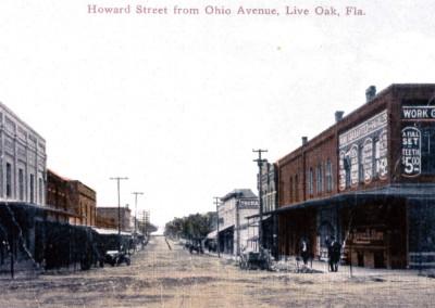 Photo---Live-Oak---Howard-Street-looking-West---Early-1900s