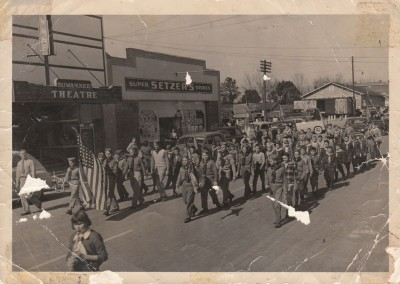 Photo---Live-Oak---Ohio-Avenue---Boy-Scouts-Marching---Circa-1950s