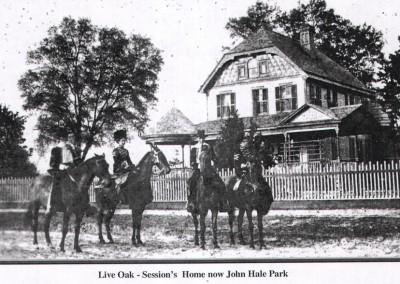 Photo---Live-Oak---Sessions-Home-now-John-Hale-Park---Circa-1900