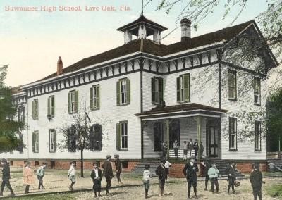 Photo---Live-Oak---Suwannee-High-School---First-Public---Colorized---1