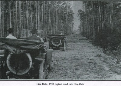 Photo---Live-Oak---Typical-Road-leading-to-Live-Oak---1916