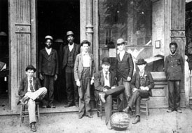 Photo---Live-Oak---Western-Union-Office-(including-several-McClellans)---circa-1888