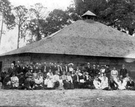 Photo---Pine-Grove---Church-Members-gathered-around-Building---1905---see-summary