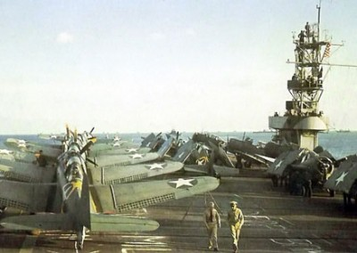 Photo---Ship---U.S.S.-Suwannee-(CVE-27)---Sister-Ship-Sangamon-as-Part-of-the-Operation-Torch-Fleet