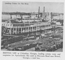Photo---Steamboat---Bertha-Lee---At-Columbus,-GA---Late-1800s