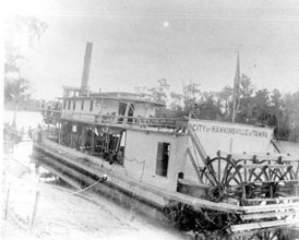 Photo---Steamboat---City-of-Hawkinsville---1900s