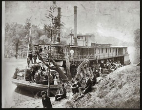 Photo---Steamboat---City-of-Hawkinsville---At-Hawkinsville,-GA-on-Maiden-Trip-to-Carry-Cotton-on-Ocmulgee-River---04-19-1897