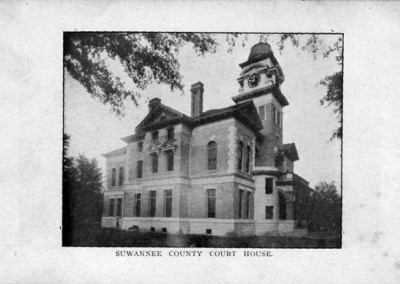 Photo---Suwannee-County-Courthouse---Early-1900s