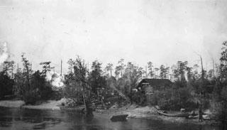 Photo---Suwannee-River-near-the-Drew-Bridge---Early-1900s