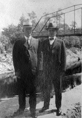 Photo---Suwannee-Springs---Governor-John-W.-Martin-with-unidentified-man-at-bridge