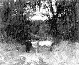 Photo---Suwannee-Springs---Path-leading-to-Dam---1962