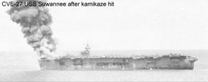 Photo---U.S.S.-Suwannee-(CVE-27)---After-Kamikaze-hit---10-26-44---2